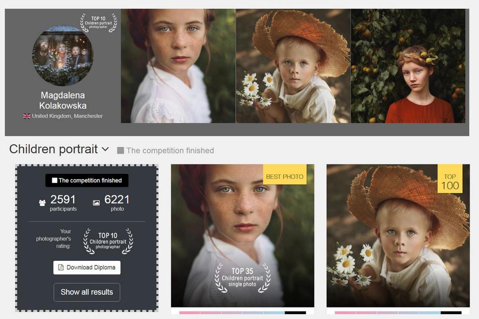 35 Awards Child Portrait 2019 - Top 35 best pictures, Top 10 Best photographers