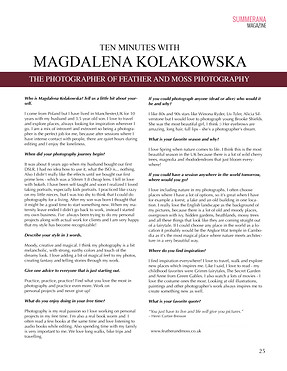 Interview in Summerana Magazine