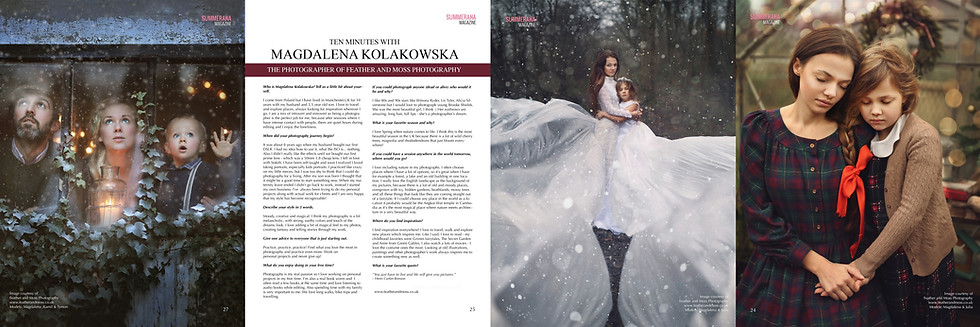 Summerana Magazine publication with interview