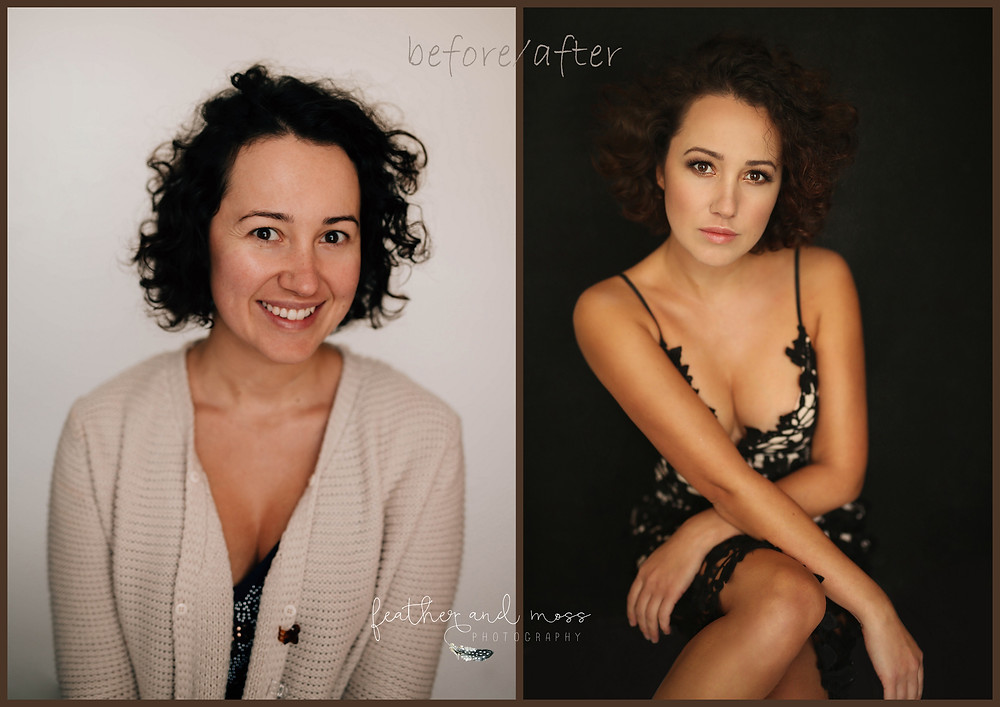 before and after, makeover, make-up, photosession, posing, posing techiniques, every woman is beautiful, inner beauty,