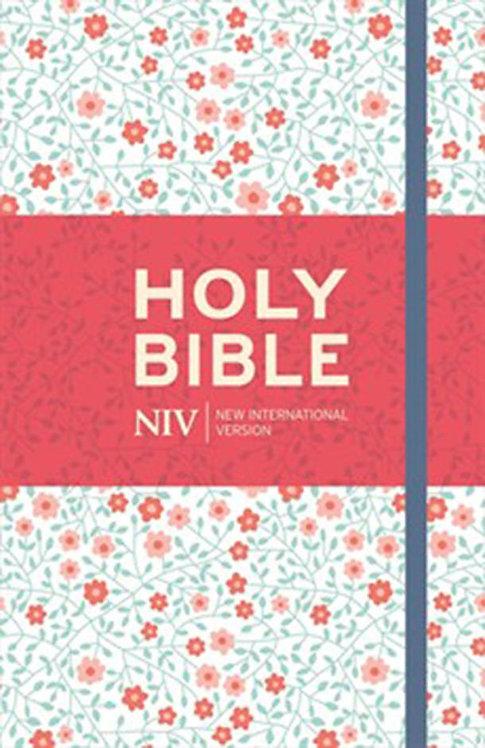 NIV Thinline Bible Floral Cloth Hardback