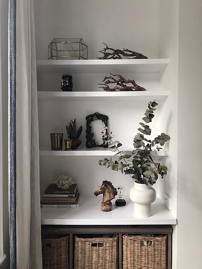 Shelf decor ideas, contemporary design