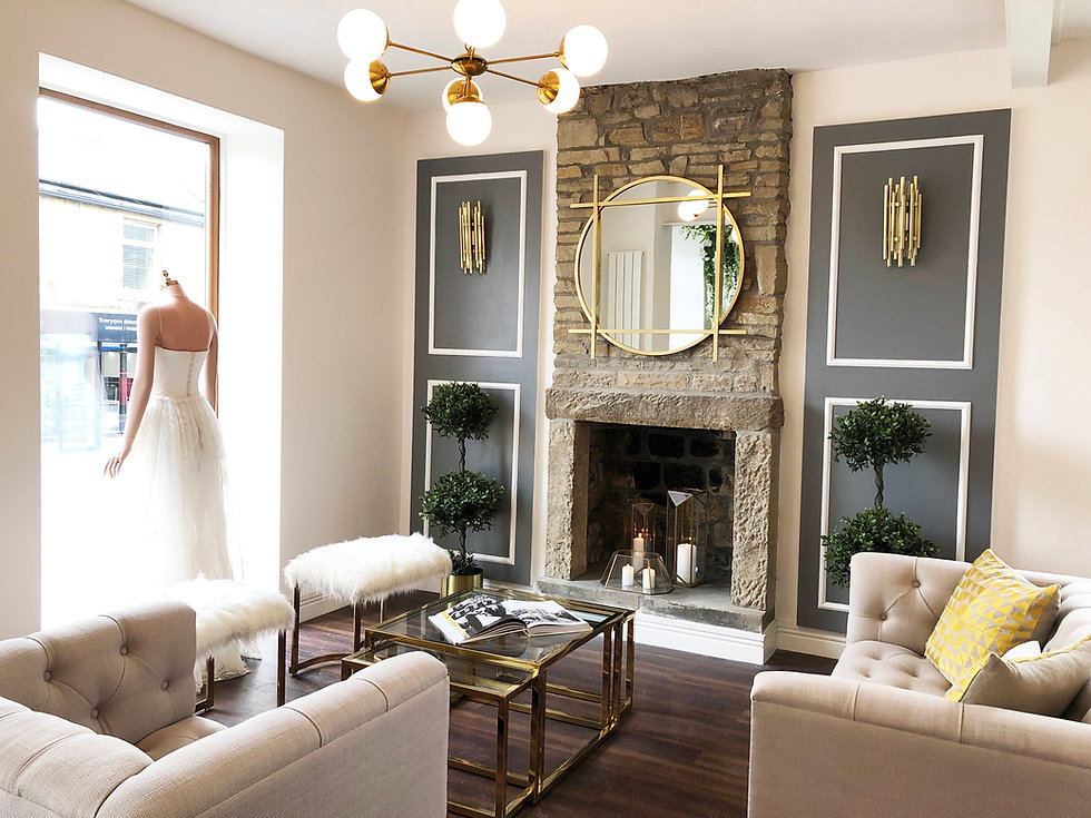 Bridal shop interior design , clitheroe