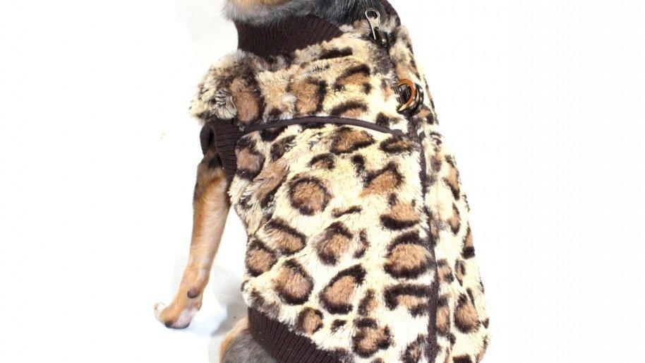 Cheetah Mink Vest
