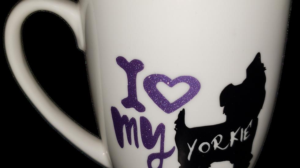 I Love My Yorkie Mug