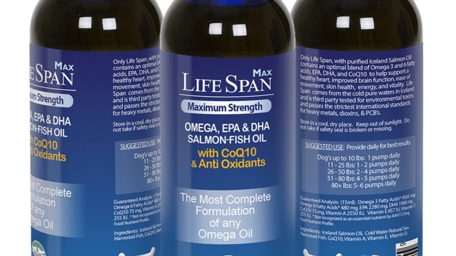 LifeSpan MAX Wild Salmon Oil with CoQ10