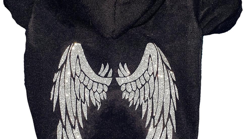 Glitter Angel Wings Sweatshirt