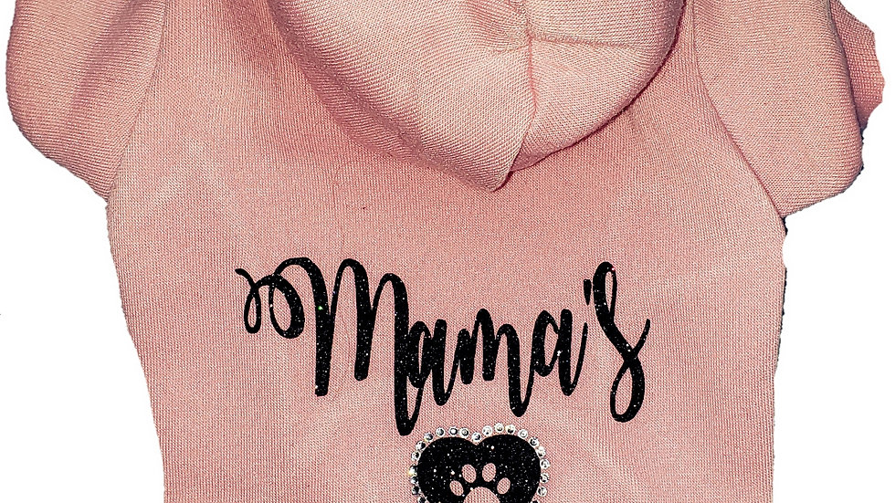 Glitter Mama's Girl Sweatshirt with Rhinestone Heart