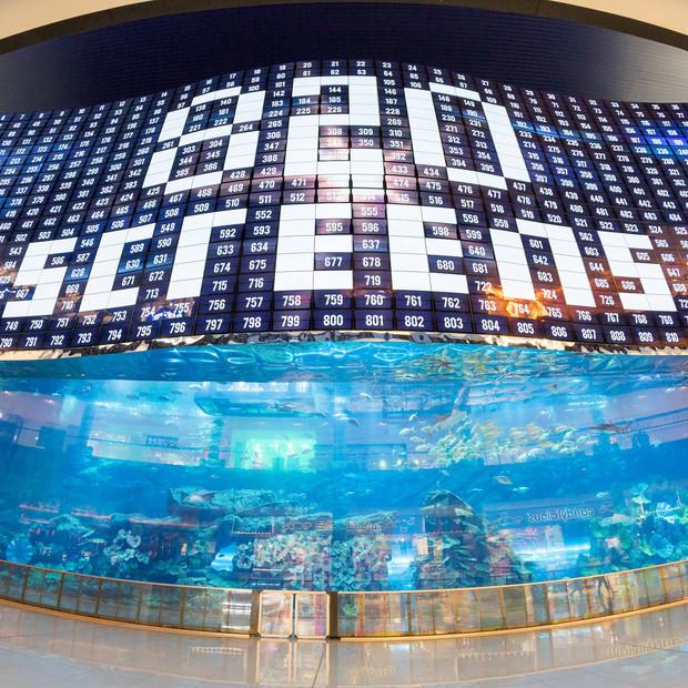 Triple World Record Breaking OLED Screen at Dubai Mall