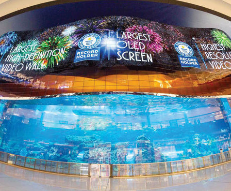 World Largest Screen at Dubai Mall