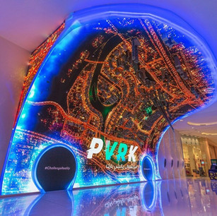 Curved LED Screen at the VR Park in Dubai Mall