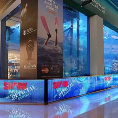 Transprent LED Barriers at Dubai Aquarium