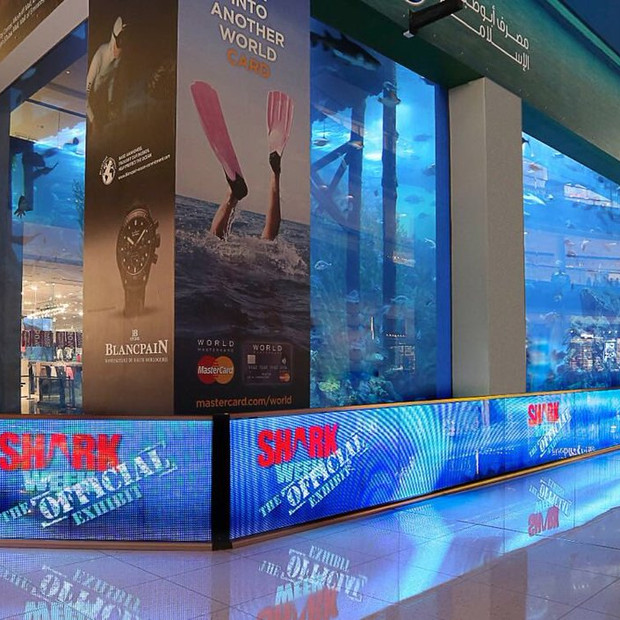 Transparent LED Barriers at Dubai Aquarium