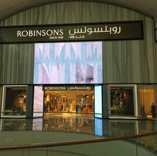 Digital Signage at Robinsons, the Largest Store in Dubai