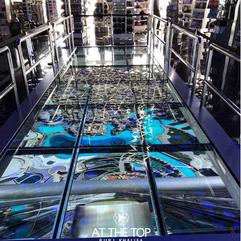 Interactive Glass Floor at Burj Khalifa