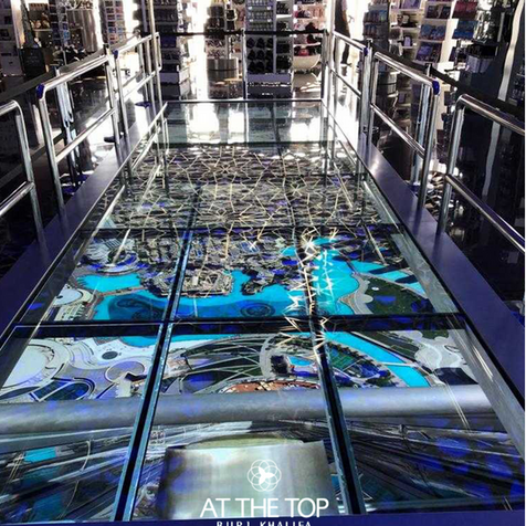 Interactive Glass Floor at Burj Khalifa