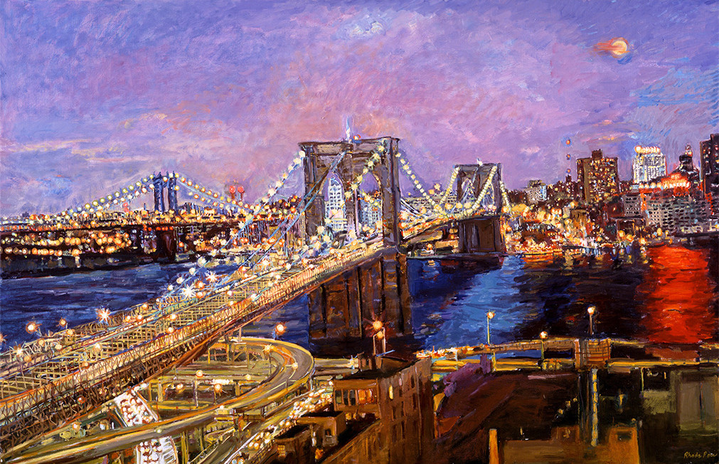 Dazzling New York Oil on Canvas 35 x 42.