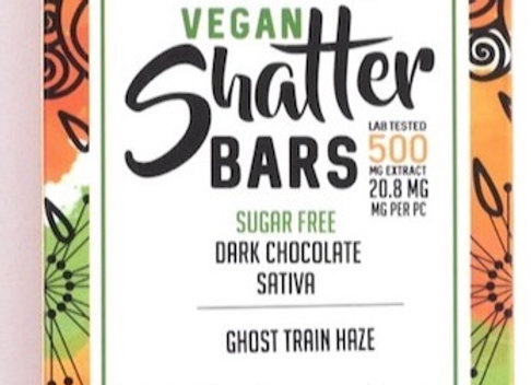 Vegan Dark Chocolate Sativa Shatter Bars