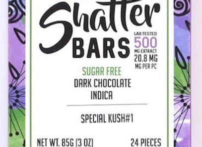 Vegan Dark Chocolate Indica Shatter Bars