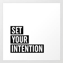 Set An Intention