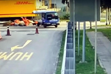 DHL accident near 70 Tanah Merah Coast Road