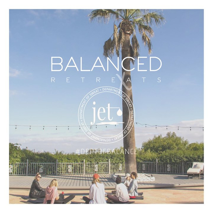 Jet Sweat Dept x Balanced Retreats Location