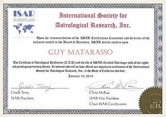 תעודת הסמכה גיא מטרסו אסטרולוג