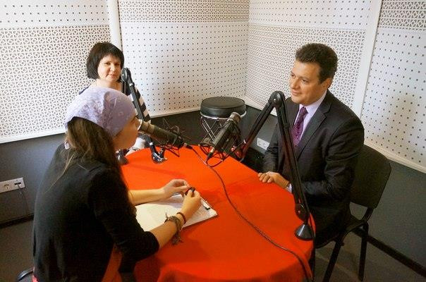 Interview at Rostov radio.jpg