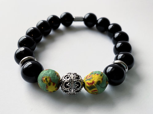 Strength | Shades of Black Yellow Green Glass