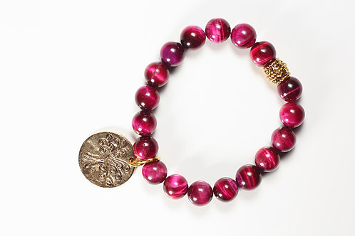 Harmony Collection Fuchsia Tiger Eye