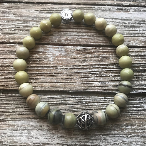 Calming Collection Mix Jasper and Sterling Silver