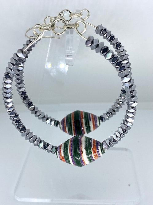 BEING Collection, Silver Hematite Twist