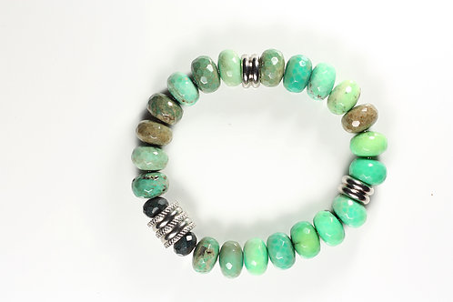 Classic Collection Green Grass Agate & Steel