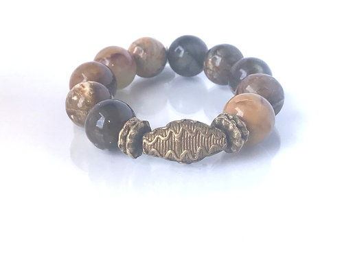 Harmony Collection, Shades of Brown Jasper & African Brass