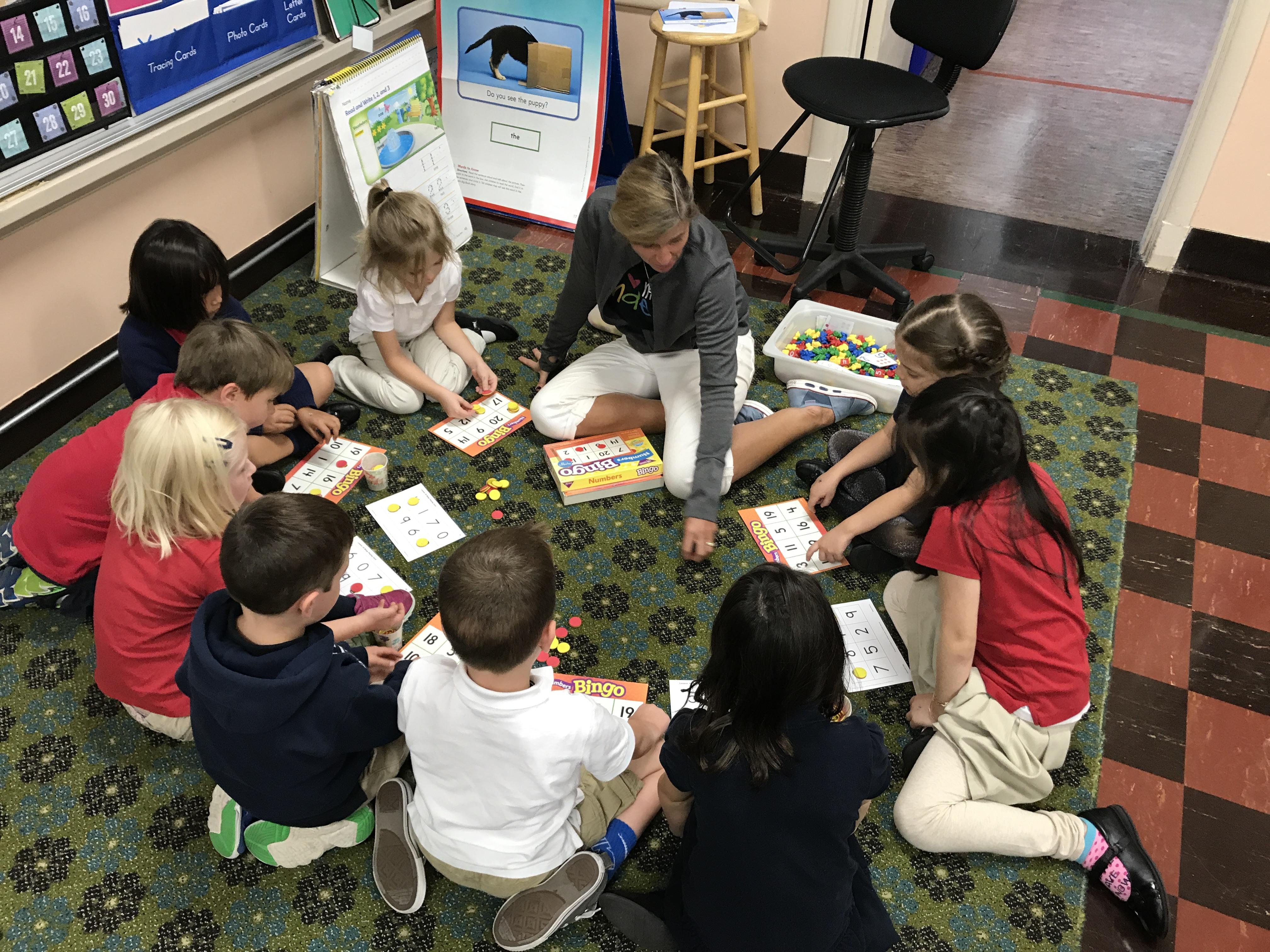 Number Bingo in Kindergarten