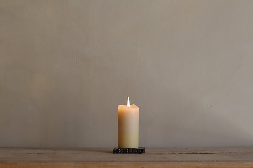 PURE ORGANIC BEESWAX PILLAR CANDLE 4.5 X 15