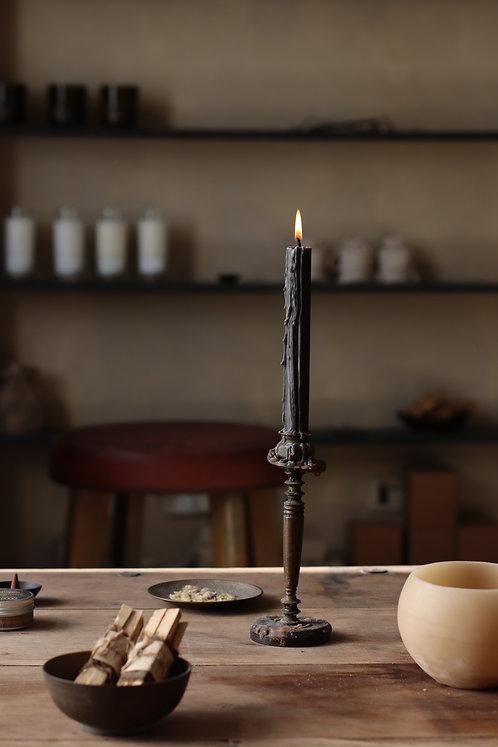 BLACK DINNER CANDLES   |  נרות דונג אורגני שחורים