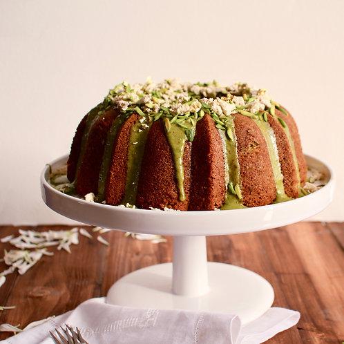 Pistachio Volcano Cake