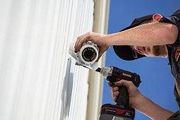 installating a surveillance camera outdoors