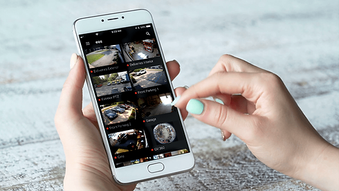 surveillance cameras on iphone business security