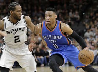 Oklahoma City Thunder vs San Antonio Spurs (5:30pm)