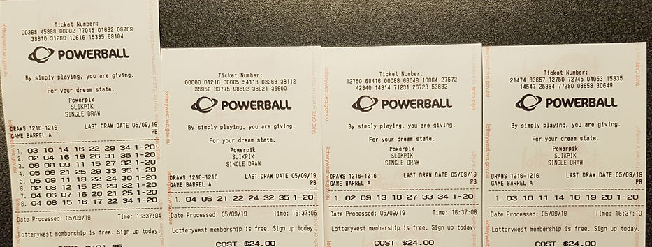 190905 Lotto Syndicate $80mil Powerball.