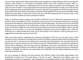 Joint Statement on the Denial of PrEP to Prevent HIV Infections for Publix Supermarket Employees