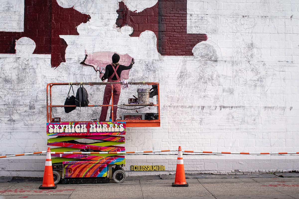 Ik zou wel meer kunst willen zien op de Heemraadssingel. Gewoon elke soort kunst. Maar meer sculpturen en dit soort dingen. Het zou leuk zijn om een permanente kunstroute te hebben net rond de Heemraadssingel. Van zuid naar noord en dan weer terug naar de andere kant. (Inspiratie: Williamsburg NYC). (Wouter)