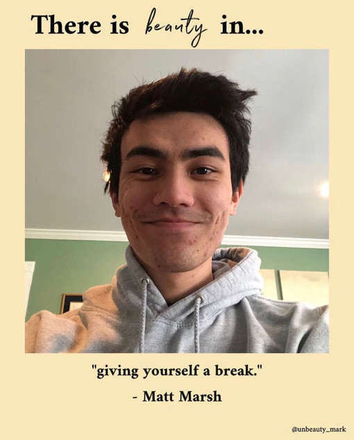 There is beauty in giving yourself a break.