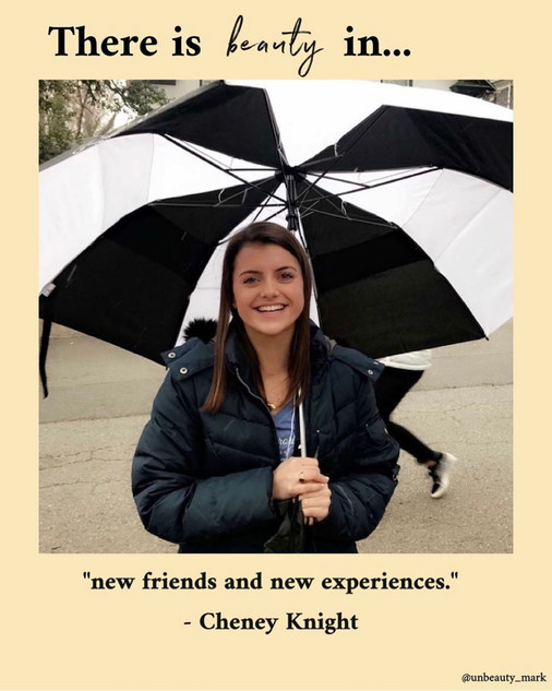 There is beauty in new friends and new experiences.