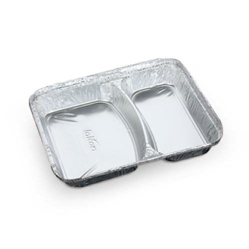 Falcon Aluminium Container with Lid - 2 Section