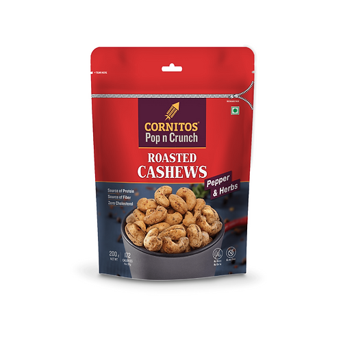 Cornitos Roasted Cashew (Pepper & Herbs) - 200g