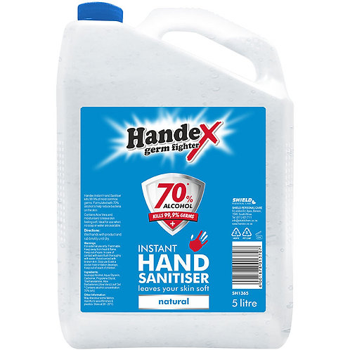Shield Handex Instant Hand Sanitiser Natural - 5L