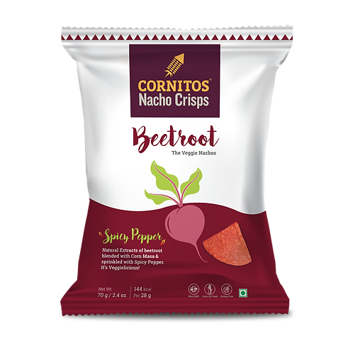 Cornitos Nacho Beetroot Crisps - 70g